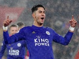 Ayoze Perez celebrates scoring for Leicester City on October 25, 2019