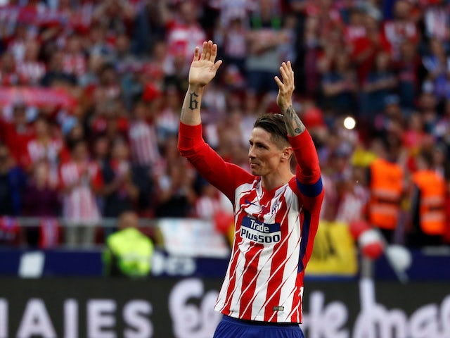 Fernando Torres in action for Atletico Madrid in May 2018