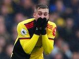 Watford's Gerard Deulofeu reacts on October 26, 2019