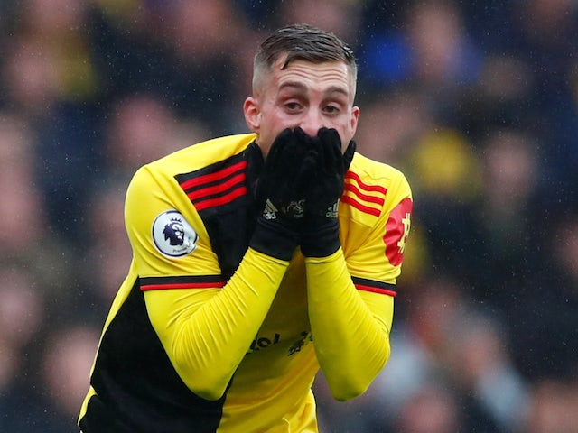 Watford's Gerard Deulofeu reacts on October 26, 2019