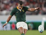 Handre Pollard in action for South Africa on October 20, 2019