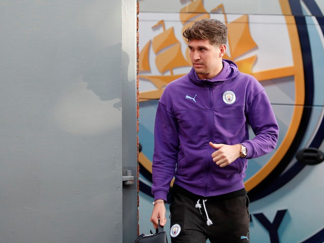 Manchester City defender John Stones pictured on October 19, 2019