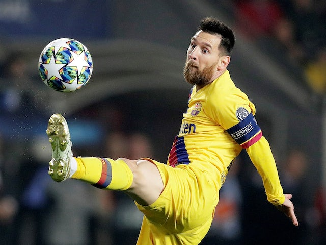 Lionel Messi in action for Barcelona on October 23, 2019