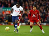Tottenham Hotspur's Moussa Sissoko in action with Liverpool's Roberto Firmino in the Premier League on October 27, 2019