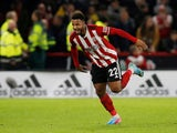 Lys Mousset celebrates scoring for Sheffield United against Arsenal on October 21, 2019