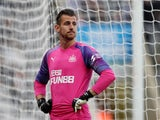 Martin Dubravka in action for Newcastle United on September 21, 2019