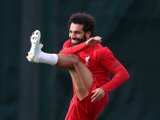 Mohamed Salah during a Liverpool training session on October 23, 2019