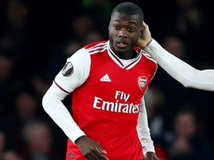 Nicolas Pepe celebrates scoring for Arsenal on October 24, 2019