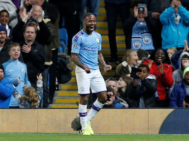 Football world praise Raheem Sterling after European hat-trick