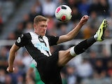 Sean Longstaff in action for Newcastle United on August 31, 2019
