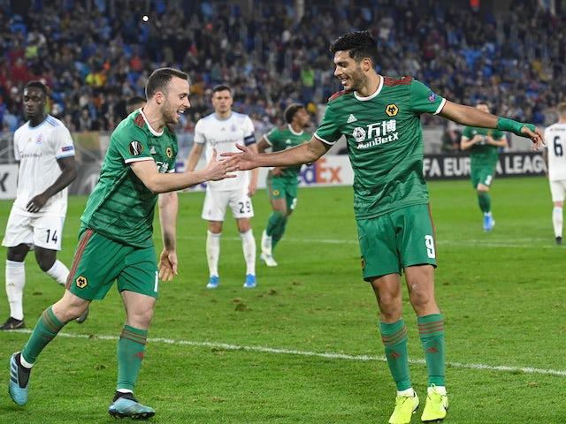 Result: Raul Jimenez gets winner for Wolves in Bratislava as Jota sent off late on