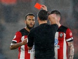 Ryan Bertrand sees red for Southampton on October 25, 2019