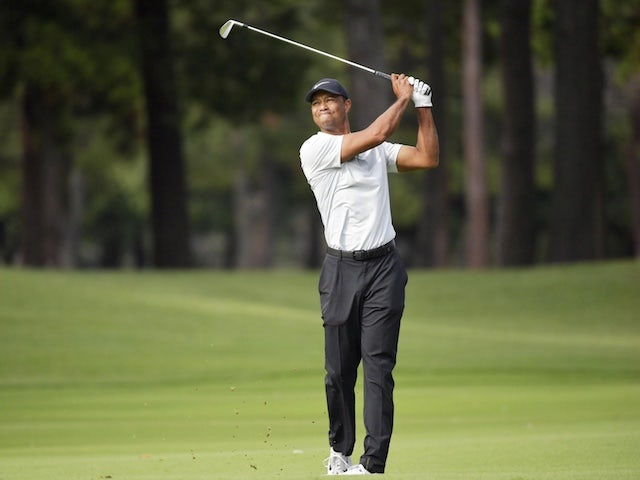 Tiger Woods in the hunt on crowded leaderboard at US PGA