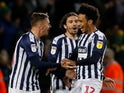 West Bromwich Albion's Matheus Pereira celebrates scoring their second goal against Barnsley on October 22, 2019