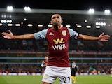 Ahmed Elmohamady celebrates scoring for Aston Villa on October 30, 2019