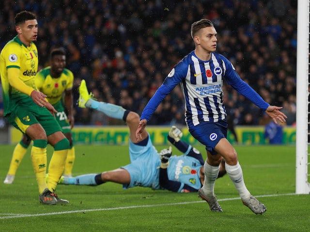 Result: Brighton beat struggling Norwich to continue winning run