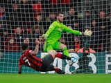 Bournemouth's Joshua King scores against Manchester United in the Premier League on November 2, 2019