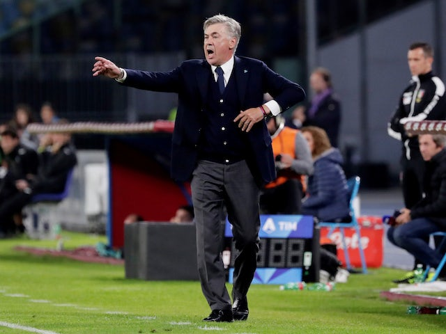 Napoli boss Carlo Ancelotti on October 30, 2019