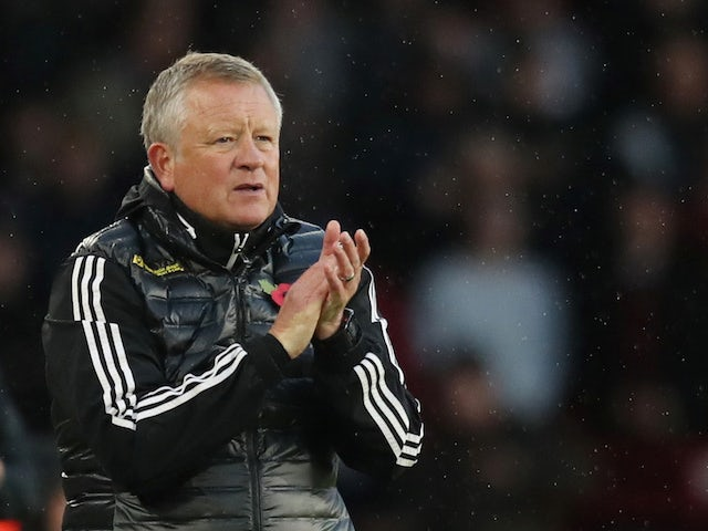 Sheffield United manager Chris Wilder pictured on November 2, 2019