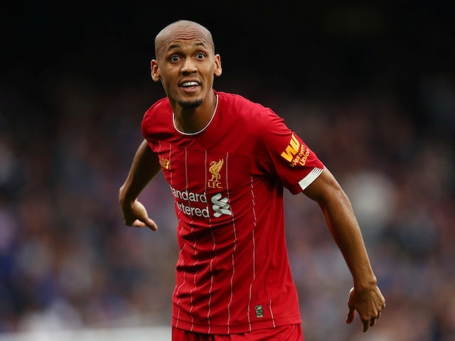 Liverpool midfielder Fabinho pictured in September 2019