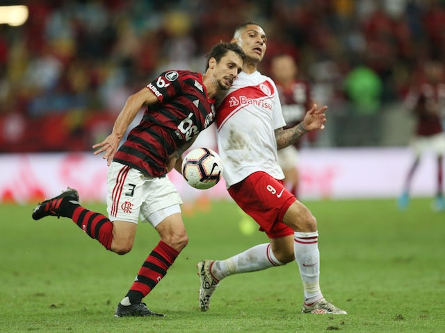 Flamengo's Rodrigo Caio pictured in action in August 2019