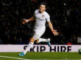Leeds United's Jack Harrison celebrates scoring their second goal against QPR on November 2, 2019