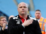 Jim Bentley pictured in charge of Morecambe in May 2018