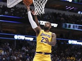 LeBron James in action for the Lakers on November 1, 2019