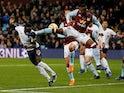 Liverpool's Sadio Mane scores their second goal against Aston Villa on November 2, 2019