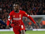 Liverpool's Naby Keita battles for the ball on October 30, 2019