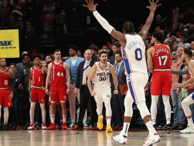 NBA roundup: Philadelphia 76ers still unbeaten courtesy of late three-pointer
