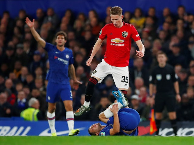 Manchester United's Scott McTominay in action against Chelsea in the EFL Cup on October 30, 2019