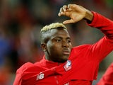 Lille midfielder Victor Osimhen pictured ahead of a Champions League clash with Chelsea in October 2019
