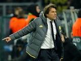 Inter Milan coach Antonio Conte reacts on November 5, 2019