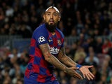 Barcelona midfielder Arturo Vidal pictured on November 5, 2019