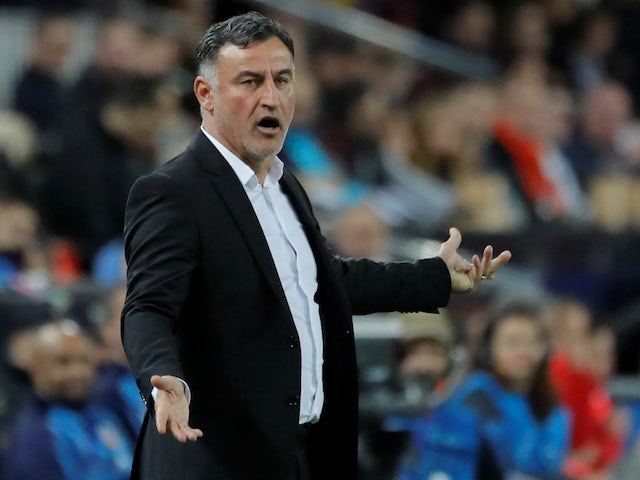 Lille coach Christophe Galtier pictured on November 5, 2019
