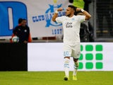 Olympique de Marseille's Dimitri Payet celebrates scoring their second goal on November 10, 2019