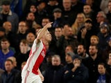 Ajax's Donny van de Beek celebrates scoring their fourth goal against Chelsea on November 5, 2019