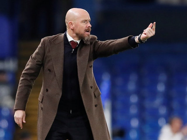 Ajax coach Erik ten Hag pictured on November 5, 2019
