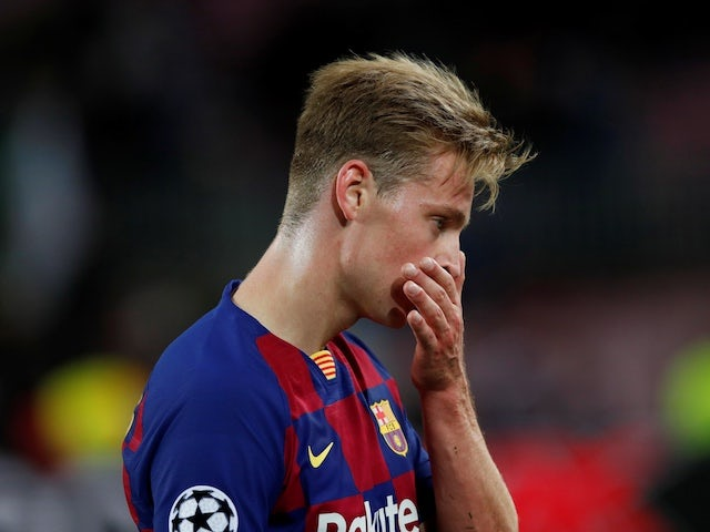 Barcelona's Frenkie de Jong after the match on November 5, 2019