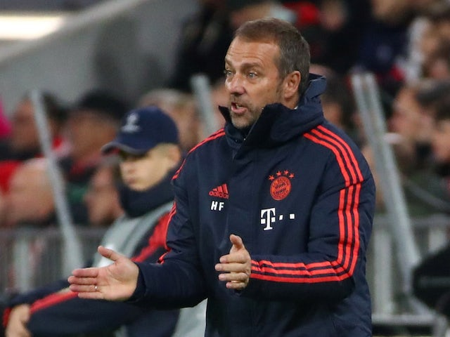 Hansi Flick in charge of Bayern Munich on November 6, 2019