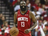James Harden in action for the Rockets on November 6, 2019