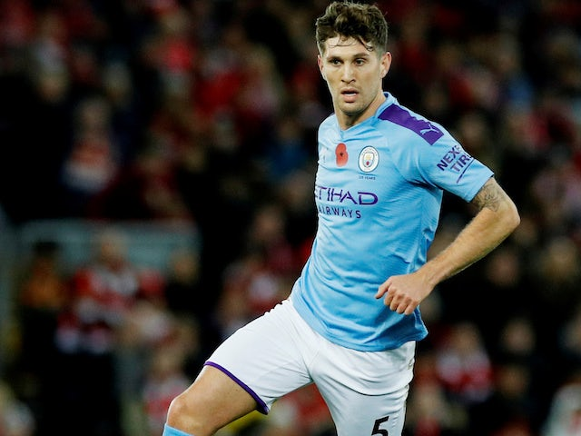 John Stones in action for Man City on November 10, 2019