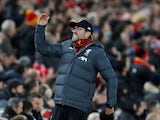 Liverpool manager Jurgen Klopp reacts on November 10, 2019