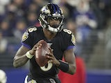 Lamar Jackson in action for Baltimore Ravens on November 3, 2019