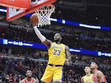 LeBron James in action for the Lakers on November 5, 2019
