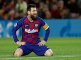 Barcelona's Lionel Messi reacts on November 5, 2019