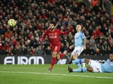 Mohamed Salah scores Liverpool's second on November 10, 2019