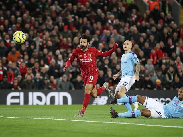 Mohamed Salah scores Liverpool's second on November 10, 2019