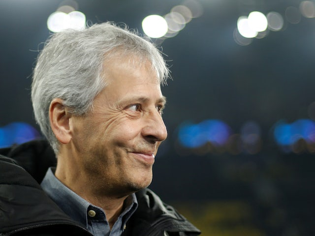 Borussia Dortmund coach Lucien Favre before the match against Inter Milan on November 5, 2019
